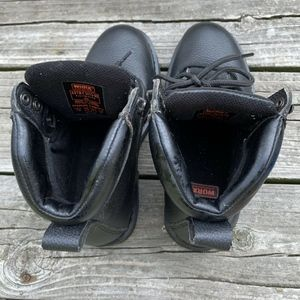 Worx by Red Wing Shoes - Worx by Red Wing Black Leather Steel Toe 7W
